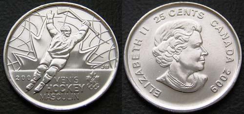 25 центов монеты олимпиада в ванкувере