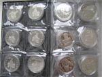 Монеты в запайках в наборе 36 монет