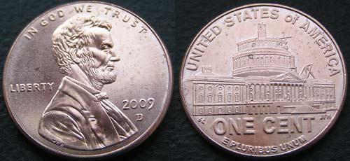 Сша 1 цент юбилейные